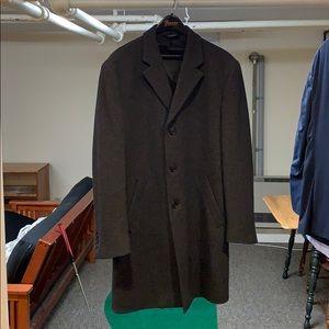 Jos A Bank Charcoal Grey Overcoat 38R
